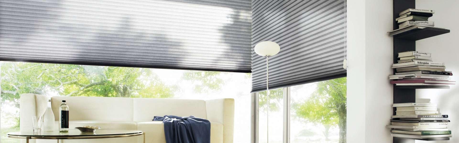 Bild Sonnenschutzanlage in Wohnzimmer grau